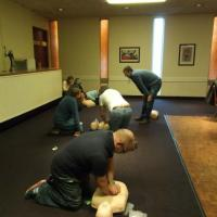 Divers performing Basic Life Support